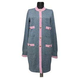 Chanel-New Cashmere Cardi Coat-Grey