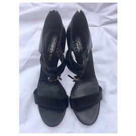 Yves Saint Laurent-YSL vintage jade sandal vintage (rare)-Black