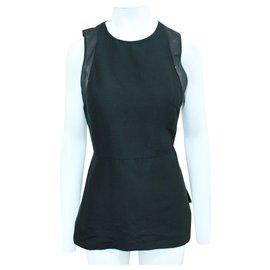 3.1 Phillip Lim-Black Top with Open Back-Black