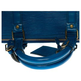 Louis Vuitton-Louis Vuitton Keepall Travel Bag 55 in cobalt blue epi leather-Blue