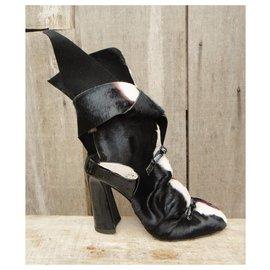 Acne-Acne Studio p boots 36 New condition-Black,White,Dark red