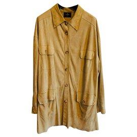 Fendi-Blazers Jackets-Beige