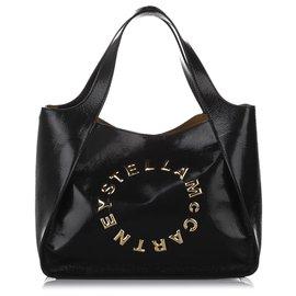 Stella Mc Cartney-Stella McCartney Black Stella Shopper Tote-Black