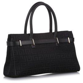 Givenchy-Givenchy Black Canvas Handbag-Black