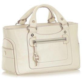 Céline-Celine White Boogie Leather Handbag-White