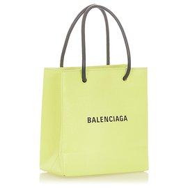 Balenciaga-Balenciaga Yellow XXS Shopping Satchel-Black,Yellow
