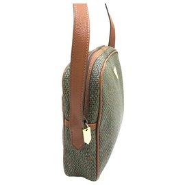 Yves Saint Laurent-YSL Green PVC Crossbody Bag-Brown,Green