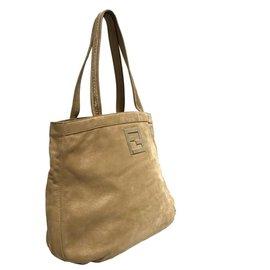 Fendi-Fendi Brown Leather Tote Bag-Brown