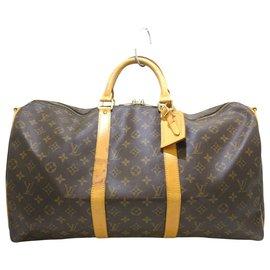 Louis Vuitton-Louis Vuitton Keepall Bandouliere 50-Marron