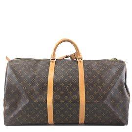Louis Vuitton-Louis Vuitton Keepall 60 Toile monogramme-Marron