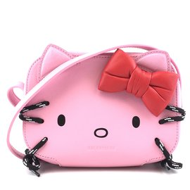 Balenciaga-Balenciaga Camera Bag Hello Kitty Printed Pink Leather-Pink