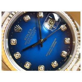 Rolex-ROLEX Datejust conbination blue Gradation 10P diamond K series Mens-Blue