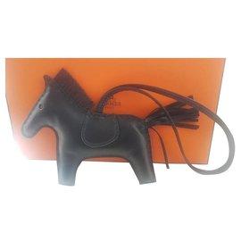 Hermès-Hermes Black Rodeo Horse Charm-Black