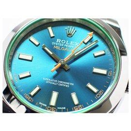 Rolex-ROLEX Milgauss green glass Z blue Ref.116400GV 2020 Mens-Blue