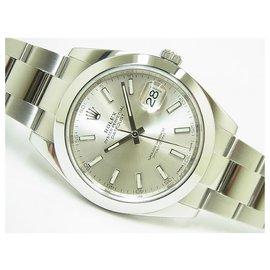 Rolex-Rolex Datejust41 silver Oyster Bracelet 126300 Mens-Silvery