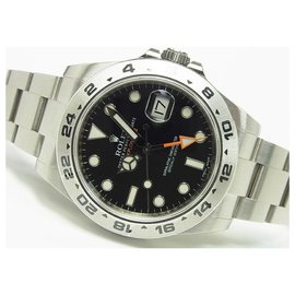Rolex-ROLEX EXPLORERII black 216570 '13 receipt protective seal Mens-Black