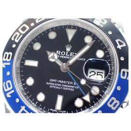 Rolex-ROLEX GMT MasterII blue black bezel 116710BLNR '18 Mens-Black