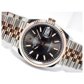 Rolex-Rolex Datejust36 dark rhodium Dial 18KPG conbination Jubilee Bracelet Mens-Black