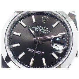 Rolex-Rolex Datejust41 Black Index Oyster Bracelet Mens-Black