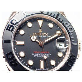 Rolex-ROLEX YACHT-MASTER37 Everose Gold 268655 Mens-Black