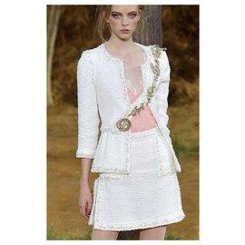 Chanel-10K$ Runway Tweed Suit-Cream