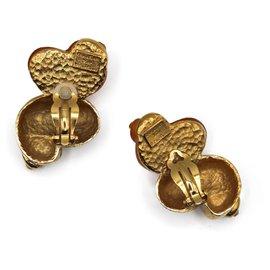 Dior-Dior Maxi Shell Earrings-Golden,Metallic