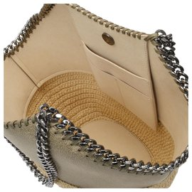 Stella Mc Cartney-Medium Tote Bag in Khaki Eco Leather-Green,Khaki