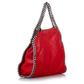 Stella Mc Cartney-Stella McCartney Red Falabella Fold-Over Tote Bag-Red