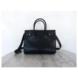 Saint Laurent-SAINT LAURENT Sac de Jour Soft Baby bag-Black