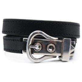Hermès-Hermès silver bracelet-Black