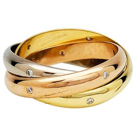 """Cartier-Cartier ring """"Trinity"""" 3 gold and diamonds.-Other"""