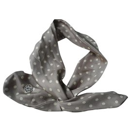 Maison Michel-MAISON MICHEL HEAD BAND Silk scarf (metal reinforcement) with polka dots very good condition-Multiple colors