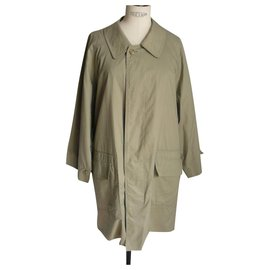 Burberry Prorsum-BURBERRY PRORSUM Khaki waterproof straight overcoat light beige T48-Beige