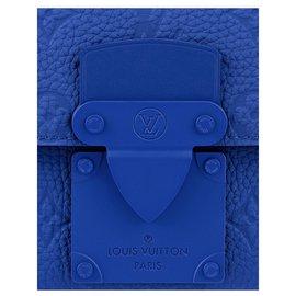 Louis Vuitton-LV S Lock Sling bag blue-Blue