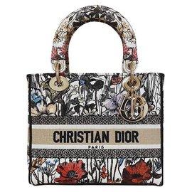 Dior-CHRISTIAN DIOR LADY D LITE MEDIUM BAG-Black,White,Red,Beige