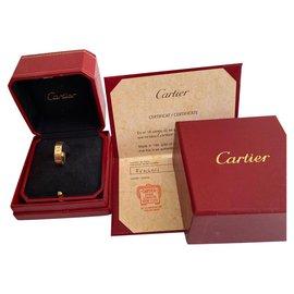 Cartier-love ring-Golden