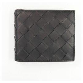 Autre Marque-BOTTEGAVENETA BOTTEGA VENETA Intrecciato Mens Folded wallet black-Black