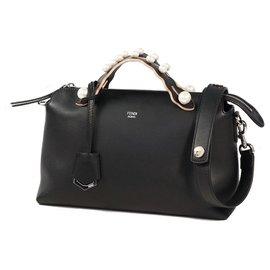 Fendi-Fendi 2WAY shoulder bag BY THE WAY Pearl Womens handbag 8BL124 A0ZX F0GXN black-Black