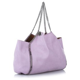 Stella Mc Cartney-Stella McCartney Purple Falabella Fold-Over Tote Bag-Purple