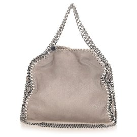 Stella Mc Cartney-Stella McCartney Gray Falabella Fold-Over Tote Bag-Grey