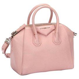 Givenchy-Givenchy Pink Antigona Leather Satchel-Pink