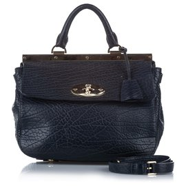 Mulberry-Mulberry Black Small Suffolk Leather Satchel-Black