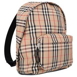 Burberry-Vintage Check Nylon Backpack for Men-Brown