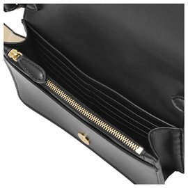 Stella Mc Cartney-Wallet with Strap in Black Eco Soft Leather-Black