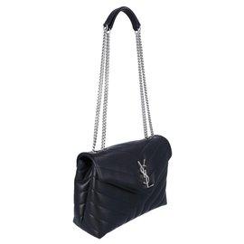 Saint Laurent-Small loulou bag-Black