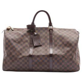 Louis Vuitton-Damier Ebène Keepall 50 sac de marin-Autre