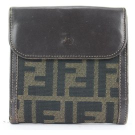 Fendi-Monogram FF Zucca Compact Wallet-Other