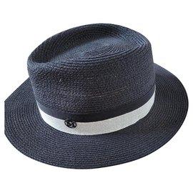 Maison Michel-Maison Michel Hat-Navy blue