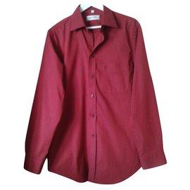 Balmain-Shirts-Dark red