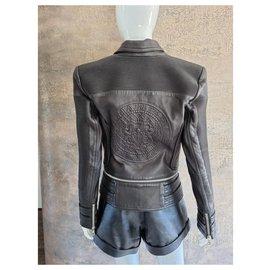 Balmain-Balmain Leather Jacket-Black